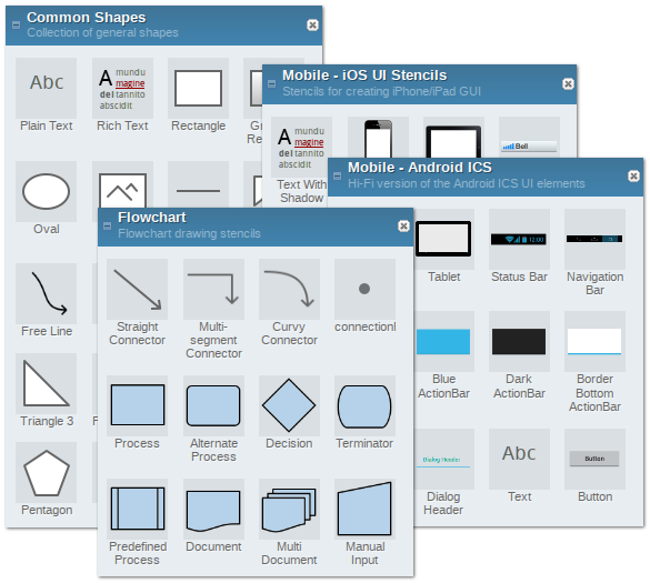 Pencil free and open source gui prototyping tool Free open source flowchart software